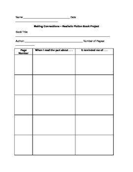 Making Connections Printable Worksheet