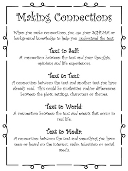 Making Connections Printable and Worksheets
