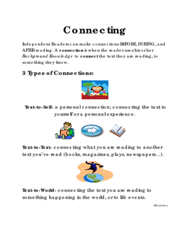 Making Connections READING COMPREHENSION STRATEGY