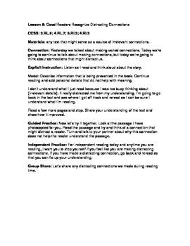 Making Connections Reader's Workshop 3-5: Unit Plans