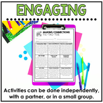 Making Connections Reading Response Activities