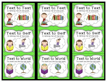 Making Connections Reading Strategies {Anchor Charts & Bookmark}