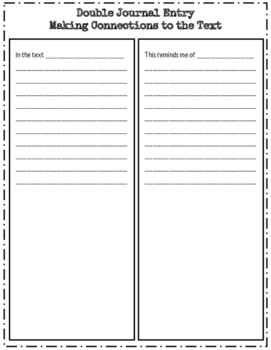 Making Connections - Response Sheets