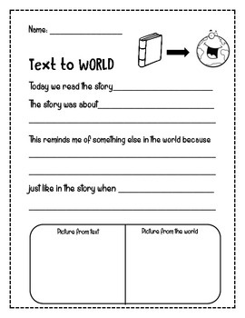 Making Connections - Self, Text & World
