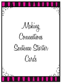 Making Connections Sentence Starter Cards