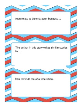 Making Connections Sentence Stems