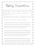 Making Connections Sheet - Printable Worksheet