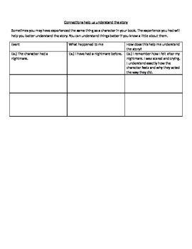 Making Connections Sheets