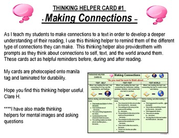 Making Connections Student Prompt Card