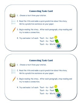 Making Connections Task Cards