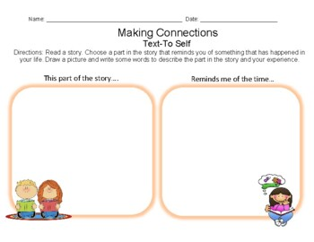 Making Connections- Text to Self