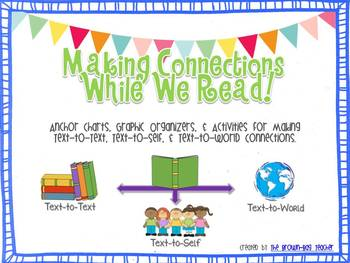 making connections text self world while reading posters graphic organizers. Black Bedroom Furniture Sets. Home Design Ideas