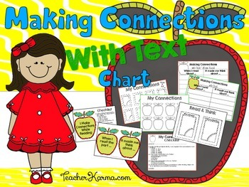 Making Connections While Reading ~ Metacognition ~ Comprehension Organizer Set