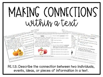 Making Connections Within a Text
