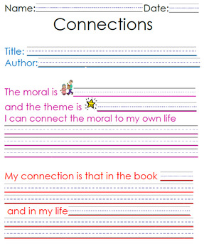 Making Connections Worksheet Teaching Resources Teachers Pay Teachers