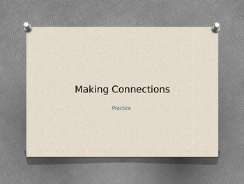 Making Connections for Writing Extended Response PPT