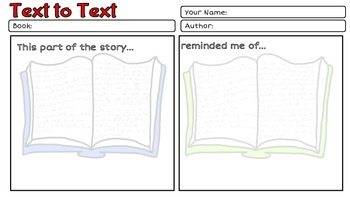 Making Connections Reading Comprehension strategy pack