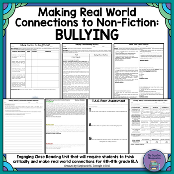 Making Real World Connections to Non-Fiction Text: Bullying