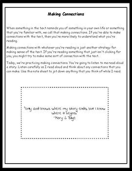 Making Connections With Any Text Middle School Reading Intervention