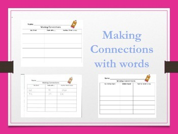 Making Connections with words