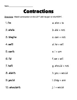 Making Contractions... (L2.2c)