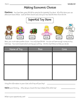 opportunity cost worksheets kidz activities. Black Bedroom Furniture Sets. Home Design Ideas