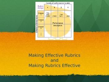 Making Effective Rubrics and Making Rubrics Effective (Pow