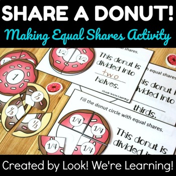 Making Equal Shares Activity: Share A Donut!