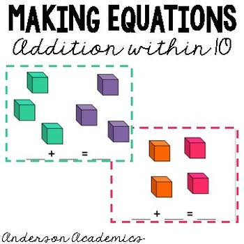 Making Equations: Addition within 10
