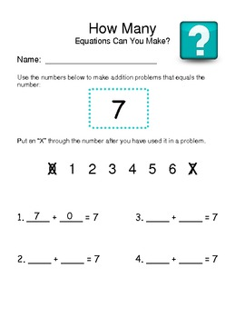 Making Equations from a Prompt Number