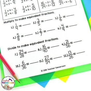 Fraction Mini Set: Making Equivalent Fractions Worksheet