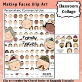 Making Faces Clip Art Color  personal & commercial use C Seslar
