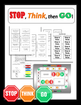 Stop, Think, then Go! game for addressing impulse control and flexibility.