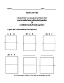 Making Fact Families Worksheet- (Addition & Subtraction)
