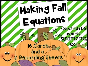 Making Fall Equations - adding on ten frame