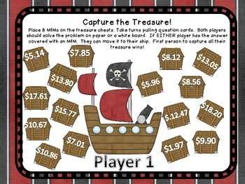 Money Common Core Figuring Change Pirate Center Game