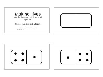 Making Fives manipulative cards