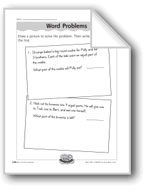 Making Fourths Word Problems (fractions/one-fourth)