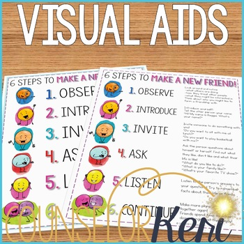 Friendship Activity: Making Friends Classroom Guidance Lesson for Counseling