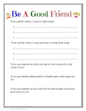Making Friends Friendship Worksheet Goes w Making Friends Is An Art SEL Lesson