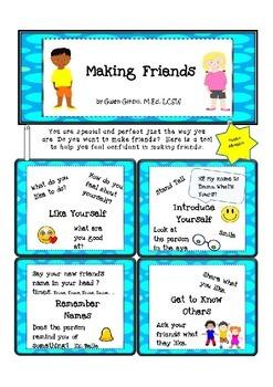 Making Friends Reinforcement Cards