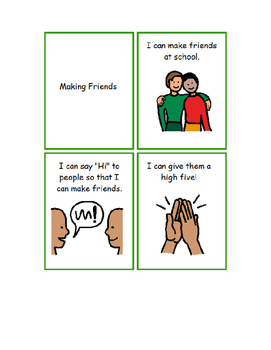 Making Friends Social Story (Help for not just Autism)