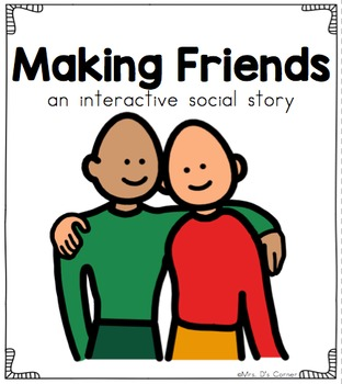 Making Friends - Social Story Interactive Storyboard { for Autism }