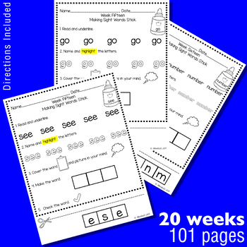 Making Fry's Sight Words Stick - First 100 Words
