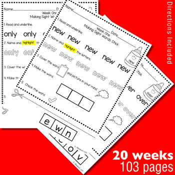 Making Fry's Sight Words Stick - Second 100 Words
