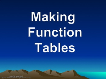 Making Function Tables for Linear Equations