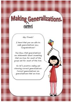 Making Generalizations Correct #1