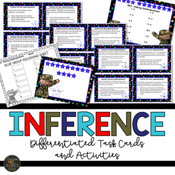 generalizations and inferencing task cards by kelly avery tpt. Black Bedroom Furniture Sets. Home Design Ideas