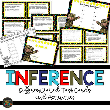 Generalizations and Inferencing Task Cards