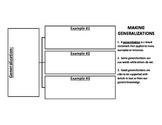 Making Generalizations Graphic Organizer